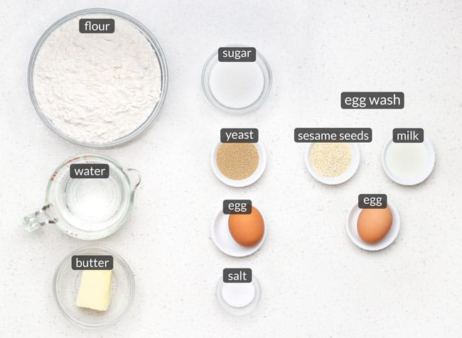 ingredients in homemade hamburger buns