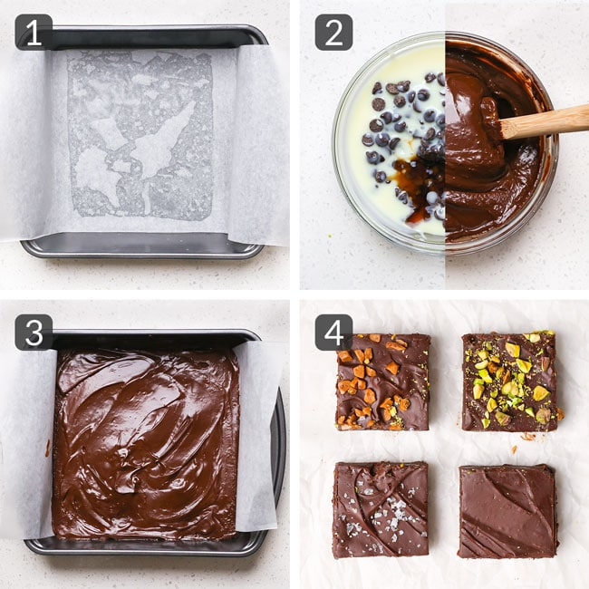 step photos for making fudge