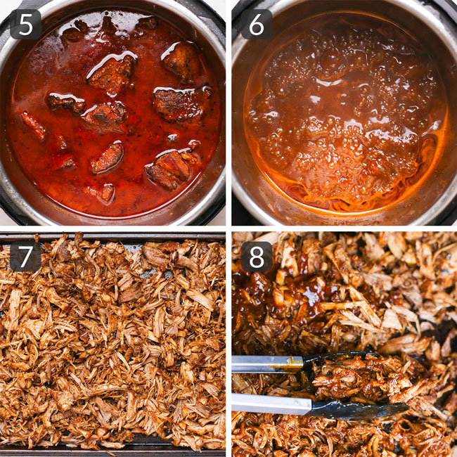 step photos for making instant pot pulled pork