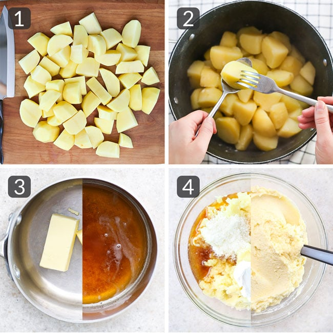 steps for making brown butter mashed potatoes