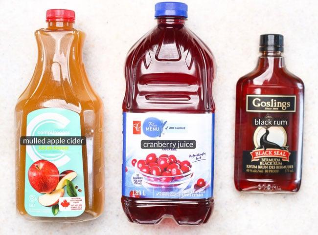 ingredients in cranberry cider