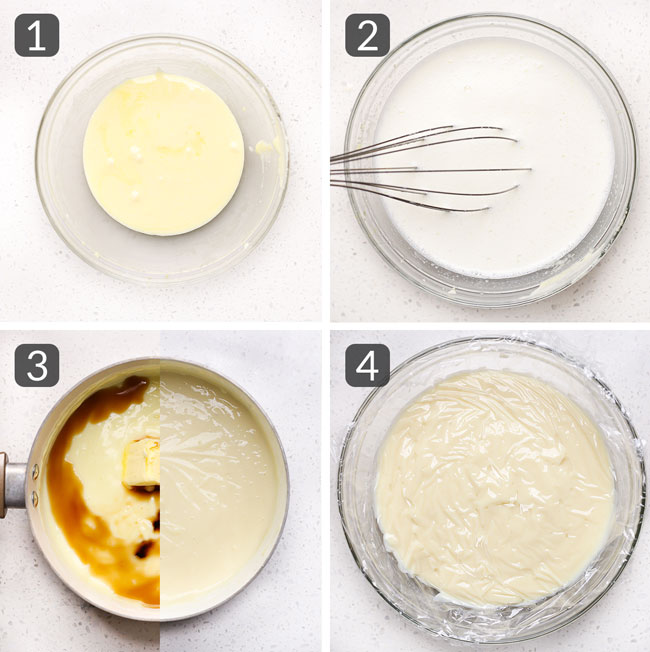 step photos for making custard