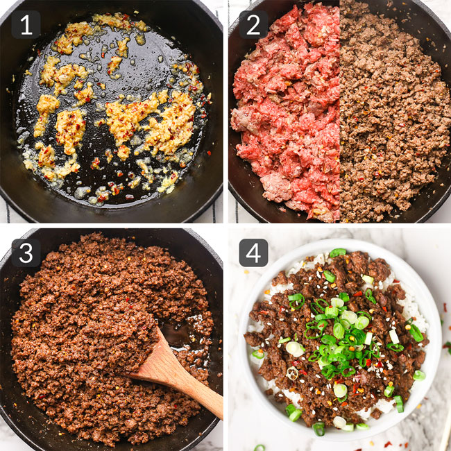 how to make Korean beef bowls