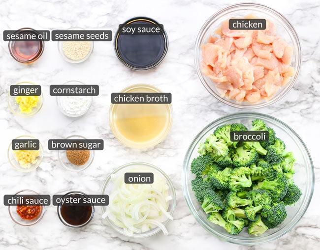 ingredients in chicken broccoli stir fry