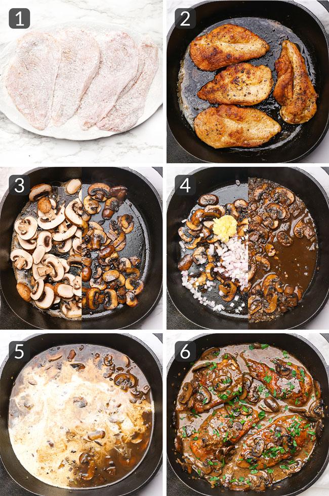 how to make chicken marsala step photos