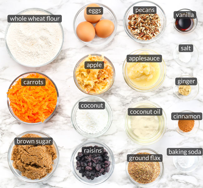 ingredients in morning glory muffins