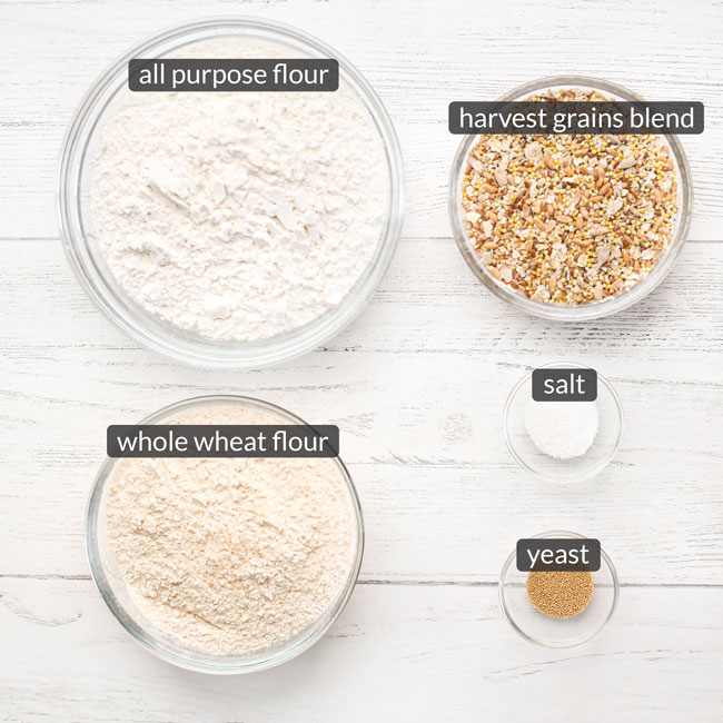 ingredients in no knead multigrain bread