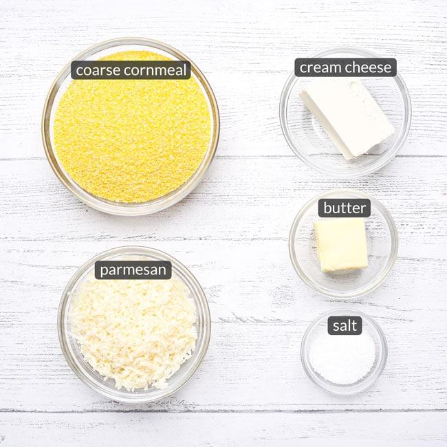 ingredients in creamy polenta