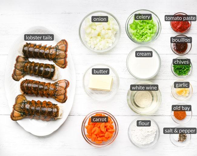 ingredients in lobster bisque