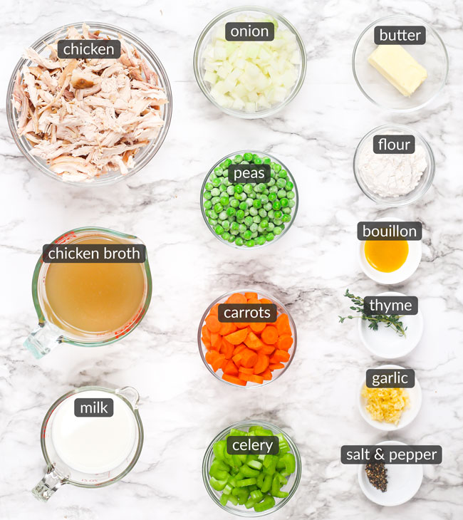 ingredients in chicken pot pie