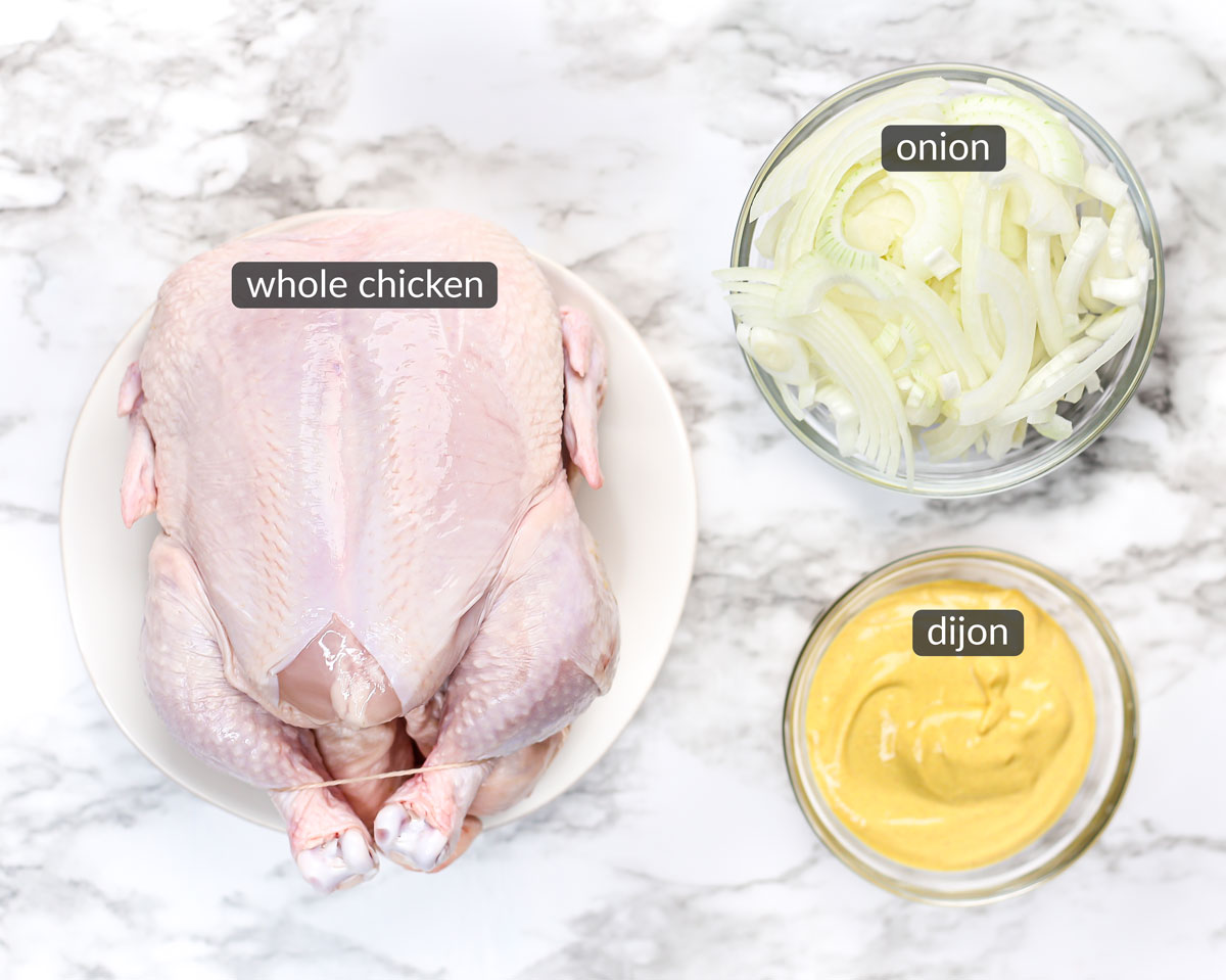 ingredients used to make 2-ingredient spatchcock chicken