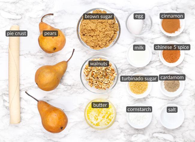 ingredients used to make pear galette