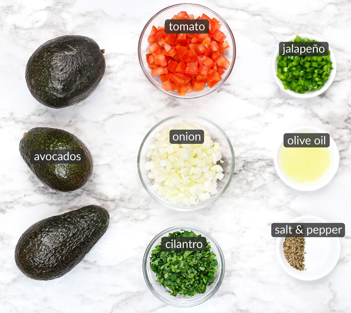 ingredients used to make the best homemade guacamole