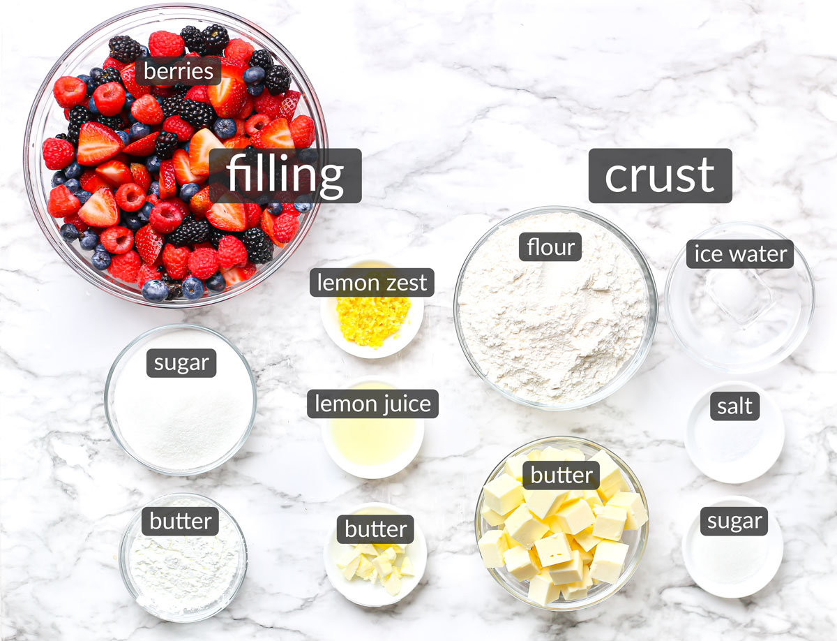 ingredients in mixed berry pie