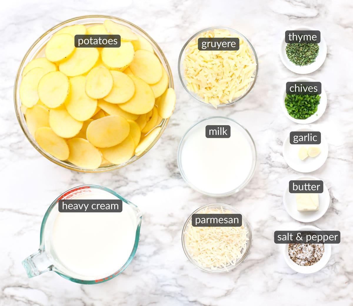 ingredients in au gratin potatoes
