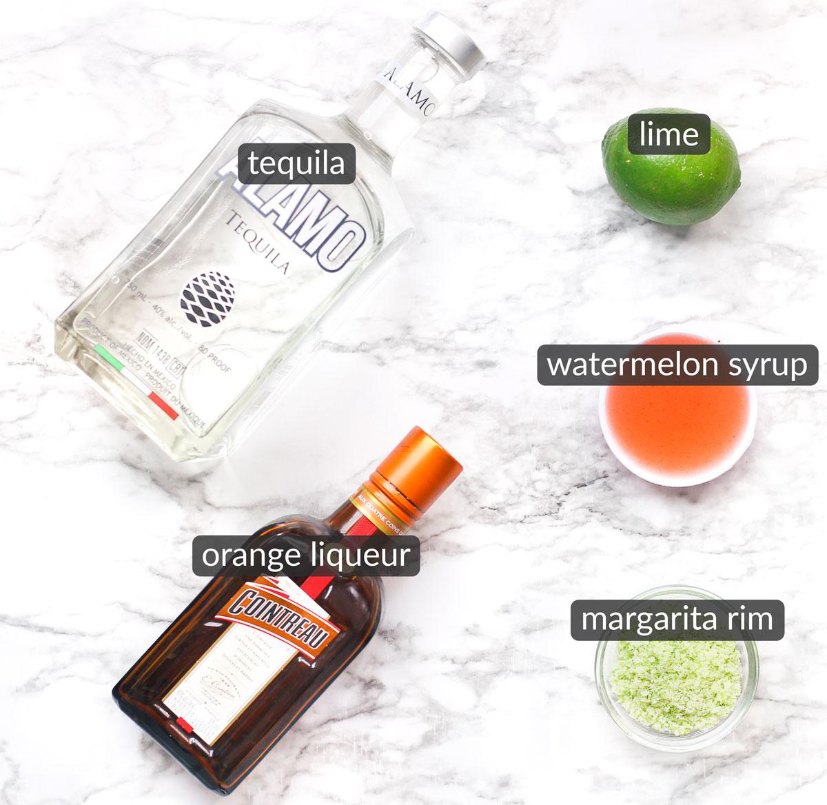 ingredients used to make watermelon margarita