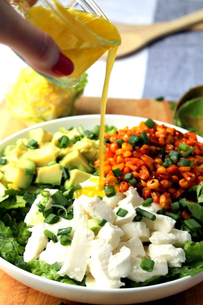Easy Smoky Corn Salad with Avocado and Mozzarella