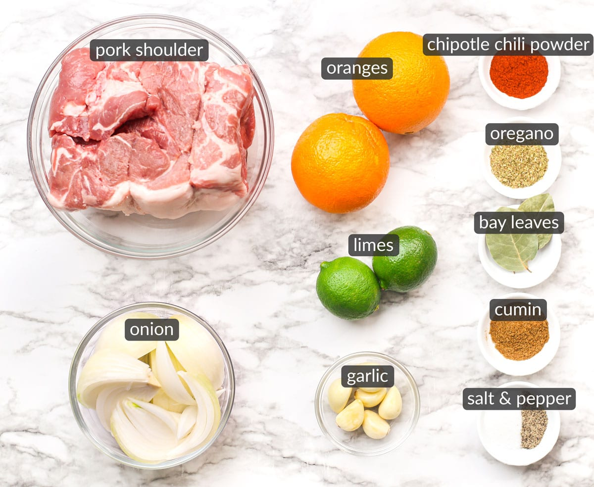 ingredients in slow cooker pork carnitas