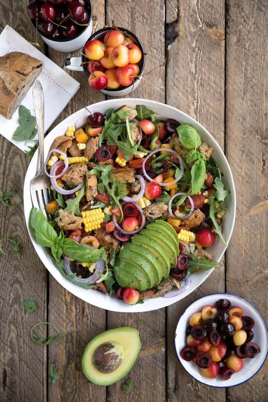 Cherry and Rocket Panzanella Salad