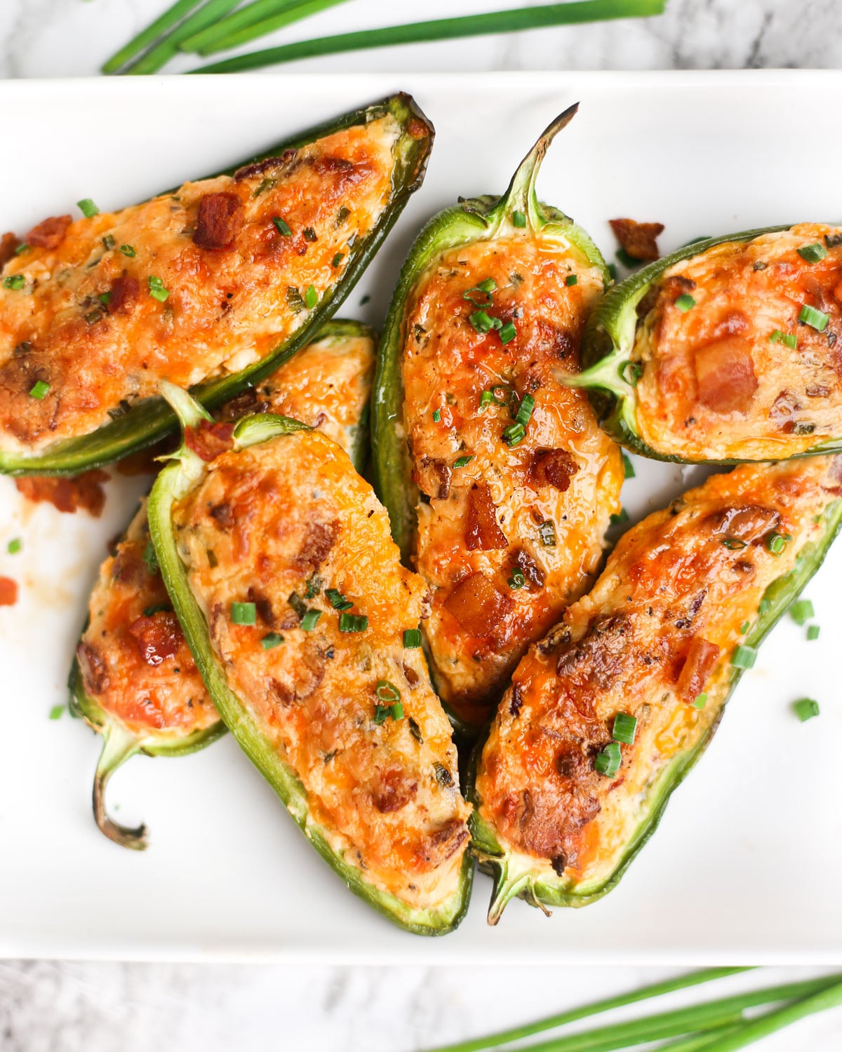 a stack of baked jalapeno poppers