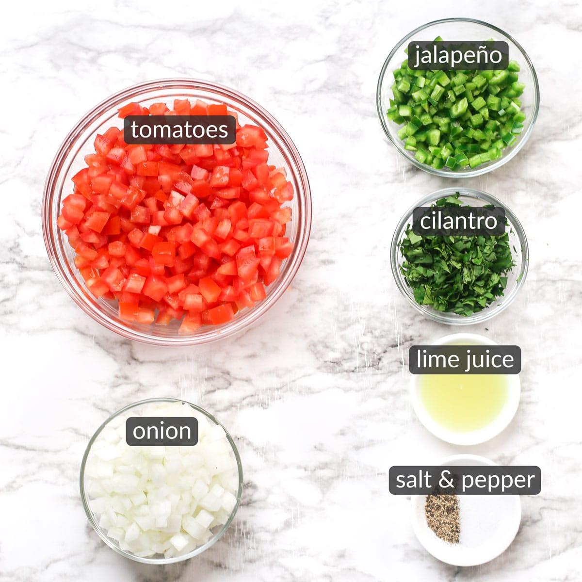 ingredients used to make pico de gallo